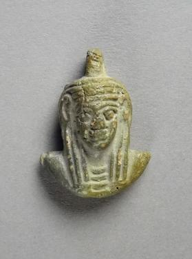 Female-headed aegis amulet