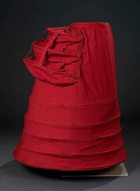 Woman's bustle crinoline or tournure