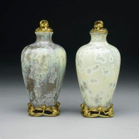 "Pair of mounted vases, ""Ingy A"" model"