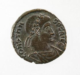 Coin with laureate bust of Constans