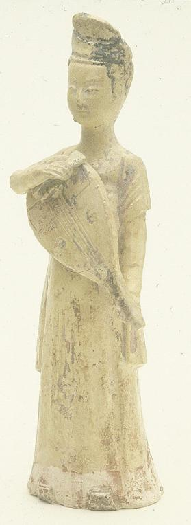 Burial figure of a female musician with a pipa