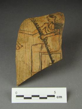 Ostracon with depiction of goddess Seshat