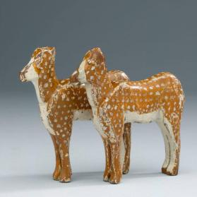 Noah's ark figures: pair of deer