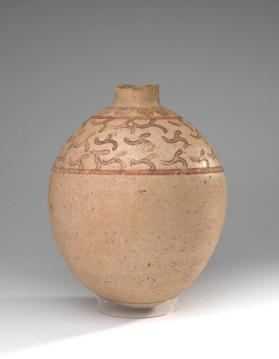 Ovoid flask with geometric design