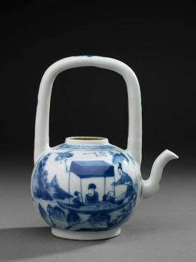 Jingdezhen ware teapot and cover