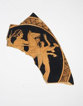 Fragment of Faliscan Red Figure kylix