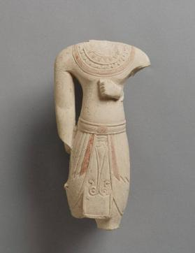 Torso from a male figure rendered in Egyptianizing style