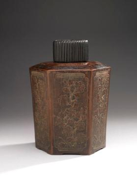 Yixing ware tea caddy