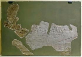 Relief fragment depicting a ship under sail