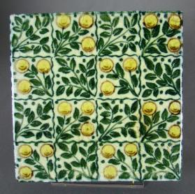 "Floral tile, ""Small B"""
