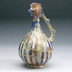 Ewer with cock's head and handle