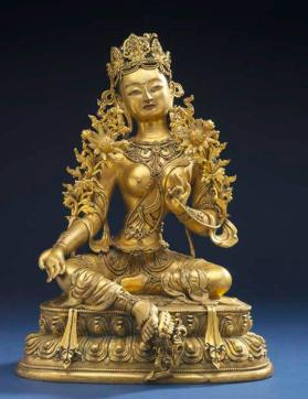 Figure of Syama Tara (Green or Dark Tara)