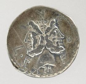 Denarius with laureate head of Janus