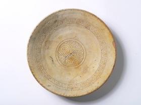 Slip-incised or sgraffiato dish