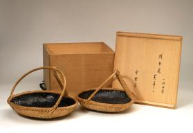 Sumitori basket for charcoal with handle