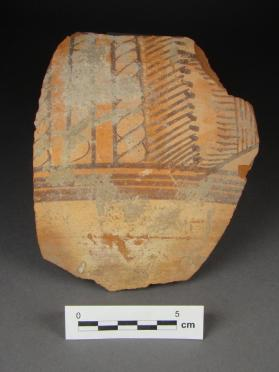 Body fragment of large jar with painted decoration
