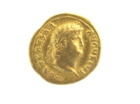 Aureus with laureate head of Nero