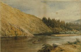 Fishing on the Banff River