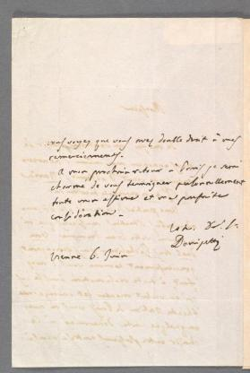 Autograph letter in French to Edouard Lockroy