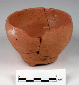 Cup with incurving rim