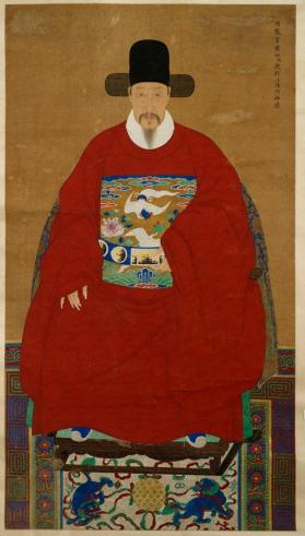 Portrait of Yang Woxing 楊我行神像