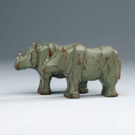 Noah's ark figures: pair of rhinoceroses