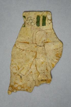 Cartonnage fragment from funerary mask