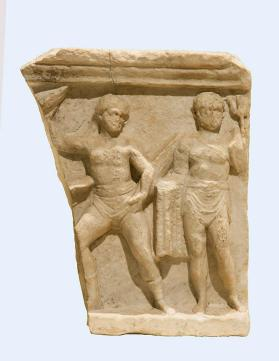 Relief with two gladiators