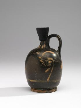 Black gloss lekythos with bird and ivy motifs, Phantom group