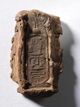 Seal impression with a hierogyphic inscription inside a cartouche