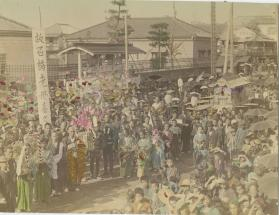 Funeral of Kiku, the deceased mother of the Ishibashi family