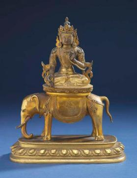 Figure of Buddha Samantabhadra on an elephant