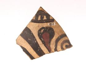 Fragment of an East Greek pot decorated with a split palmette