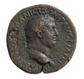 Sestertius with laureate head of Vitellius