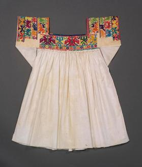 Embroidered blouse of woman's gala ensemble