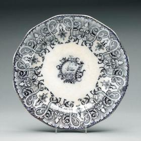 "Soup plate in ""Acadia"" pattern"