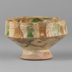 Sgraffito bowl with figure of a man
