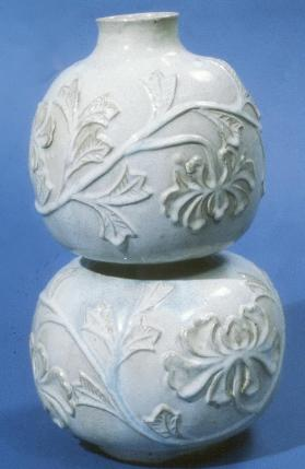 Shiwan ware 'double-gourd' vase