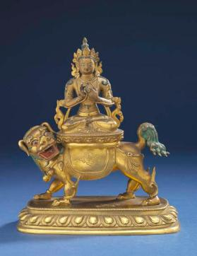 Figure of Buddha Manjusri on a lion