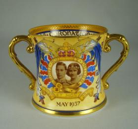 Loving cup commemorating the Coronation of Queen Elizabeth and King George VI