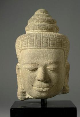 Figural head of deity