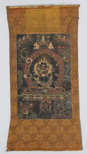 Thangka painting of Black Mahakala