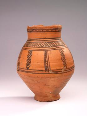 Jar with short neck and ovoid body