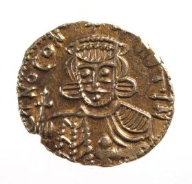 Solidus coin of Constantine V and son Leo IV
