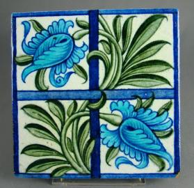 "Floral tile, ""Tulip and Trellis"""