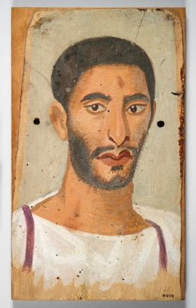 Mummy portrait of a man