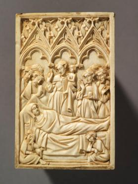 "Diptych panel, ""Dormition of the Virgin Mary"""