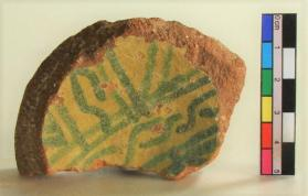 """Salad"" ware bowl fragment (base sherd)"