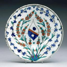 Dish with European Coat-of-Arms