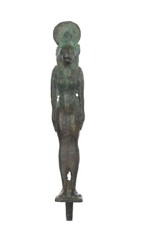 Figure of the godess Sekhmet with a cat's head